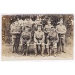 WWI S/NCO's RP Course photo card - seven NCO's probably Snipers or Weapons Instructors including