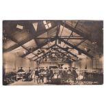 WWI Y.M.C.A. Camp - Interior RP Victoria Hut, Biscot Camp, Luton used 1916