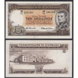 Australia-Commonwealth Bank 1954-60, Ten Shillings, AD75 168384 Flinders at Right, Coombs-Wilson R16
