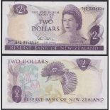 New Zealand-Reserve Bank 1981-5, Two Dollars, 9Y2895483 Purple, Hardie, Chief Cashier signature,