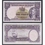 New Zealand-Reserve Bank 1956-67(ND) One Pound, 301499709 Purple, Captain Cook at Right, Fleming
