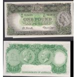Australia-Reserve Bank 1961-65, One Pound, Queen Elizabeth at Right, Coombs-Wilson, R33L