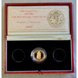 Great Britain 1989-Gold Proof Double Sovereign, 500 years of the Sovereign in Royal Mint Capsule and