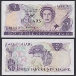 New Zealand-Reserve Bank 1981-85, Two Dollars, EB 201257 Purple, Hardie Chief Cashier signature,