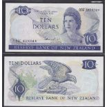 New Zealand-Reserve Bank 1981-5, Ten Dollars, 99C460804 Blue, Hardie Chief Cashier signature