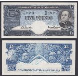 Australia-Reserve Bank 1960-65, Five pounds, TC78641441 Sir John Franklin at Right Coombs-Wilson R50