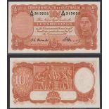 Australia-Commonwealth Bank 1949, Ten Shillings, A44 315055, Coombs-Watt signatures, Pick 25c, R14
