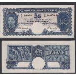Australia-Commonwealth Bank 1949 Five Pounds S6 308038 Coombs-Watt signatures, Pick 27c R47 Cat$3500