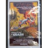 An original film poster 'The Chequered Flag or Crash' starring Larry Hagman dated 1977, 104 x 69cm.