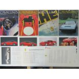 An original Ferrari Press Pack having specifications of the 550 Marinello, 360 Mordina, 456MGT etc.