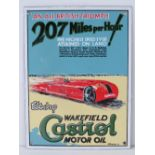 """A very fine reproduction enamel sign """"An all British Triumph.."""