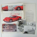An Original Farrari Dino Pininfarina folding colour brochure,