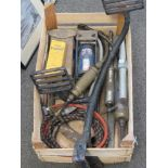 A group of vintage garage tools & equipment c1920s; including Tecalemit & Enots brass grease-guns,