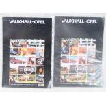 Two original copies of the Vauxhall-Opel range advertising brochures C1980's.