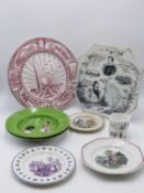 AN INTERESTING VICTORIAN POTTERY PLATE COMMEMERATING THE EXPLORATIONS OF OF AFRICA BY H.M.STANLEY, A