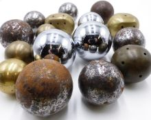 A COLLECTION OF ANTIQUE AND LATER BAODING BALLS OR CHINESE STRESS BALLS (12)