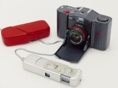 "A MINOX SUBMINIATURE ""SPY"" CAMERA TOGETHER WITH A MINOX GTE CAMERA"