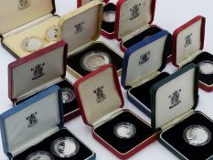 A COLLECTION OF VARIOUS SILVER PROOF COINAGE, PRINCIPALLY UK AND COMMONWEALTH 1980S/90'S (QTY)