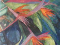 (ARR) ROBIN RICHMOND, BIRDS OF PARADISE, SIGNED, WATERCOLOUR, 59 X 44CM