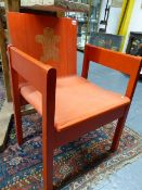 A 1969 PRINCE OF WALES INVESTITURE CHAIR