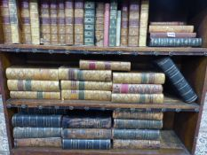 A COLLECTION OF MISCELLANEOUS BOOKS AND BINDINGS TO INCLUDE MACAULEY'S WORKS.