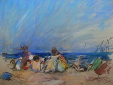(ARR) ANTHONY EYTON, SWANAGE, SIGNED AND DATED '76, PASTELS, 38.5 X 49CM. WILLIAM DARBY LABEL VERSO