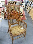 AN ARTS AND CRAFTS ARMCHAIR