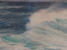 WALTER SEVERN, BREAKING WAVE, WATERCOLOUR, SIGNED AND DATED 1906, 33 X 47.5CM. J.MAAS & CO