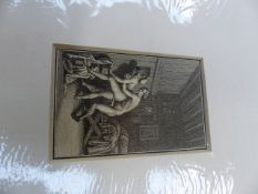 COLLECTION OF EROTIC OR RISQUE PRINTS, DRAWINGS AND WATERCOLOURS. MAINLY 20TH CENTURY. ALL UNFRAMED