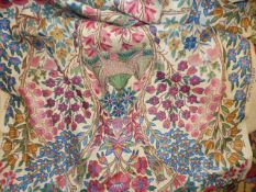 A PART BOLT OF LIBERTY AND CO PRINTED LINEN FABRIC
