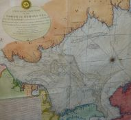 MAP, ROBERT SAYER, 1791, A NEW AND ACCURATE MAP OF THE NORTH OR GREAT GERMAN SEA.....ETC, FRAMED AND