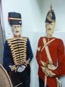 TWO HAND PAINTED DUMMY BOARDS OF SOLDIERS