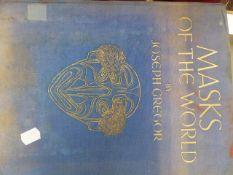 BOOK. MASKS OF THE WORLD, JOSEPH GREGOR- NOTE CORRECTION TO DESCRIPTION- ONE BOOK ONLY