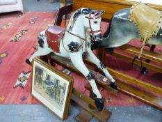AN EARLY 20TH.C.SMALL ROCKING HORSE