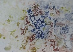 (ARR) ANTHONY GROSS, WATER THROUGH TREES, COLOUR ETCHING, SIGNED, TITLED AND NUMBERED 5/70, 27.5 X