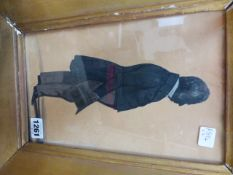 THE HUBARD GALLERY, TWO VICTORIAN SILHOUETTE PORTRAITS OF STANDING GENTLEMEN, ONE HOLDING A TOP HAT,