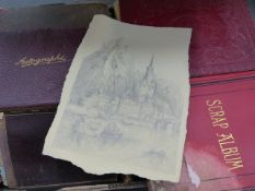 A LARGE COLLECTION OF 19TH.C.AND LATER ARTISTS SKETCH BOOKS, AUTOGRAPH ALBUMS,ETC