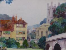 (ARR) FRED TAYLOR, THE ANGEL, HENLEY, SIGNED, WATERCOLOUR, 23 X 33.5CM