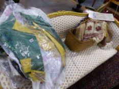 A COLLECTION OF VARIOUS VINTAGE COSTUME AND TEXTILES.