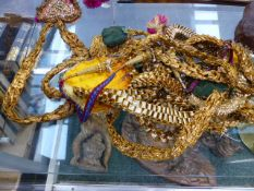 VARIOUS EASTERN EMBROIDERED CEREMONIAL ACCESSORIES