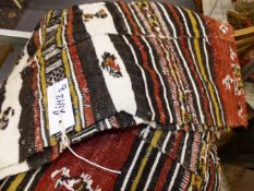 A NORTH AFRICAN HAND LOOMED TRIBAL TENT PANEL.