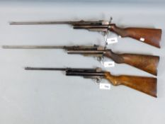 A WEBLEY SERVICE AIR RIFLE MKII, IN .25 CALIBRE, SERIAL NO S12819 ON THE BARREL AND FRAME. BARREL