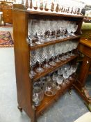 A PAIR OF ANTIQUE MAHOGANY WATERFALL BOOKCASES