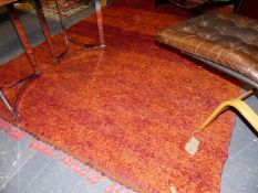 A TRIBAL NORTH AFRICAN RUG WITH UNUSUAL DEEP PILE. 286x188cms.