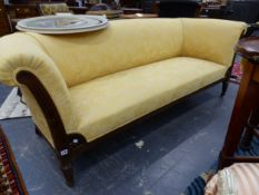 A LATE 19TH.C.MAHOGANY SHOW FRAME SETTEE