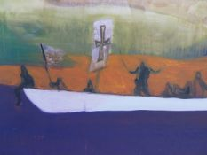 PETER DOIG (B.1959) (ARR), THE CANOE, AQUATINT, SIGNED AND NUMBERED 32/500, 59.5 X 75CM.