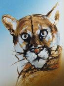 RONNIE WOOD (B.1947) (ARR), FLORIDA PANTHER, SIGNED, TITLED AND NUMBERED 130/295 IN PENCIL, 47.5 X