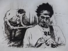 RONNIE WOOD (B.1947) (ARR), CHARLIE AND KEITH EXERCISING; CHARLIE AND MICK RELAXING; CHARLIE AND