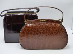 TWO QUALITY CROCODILE HANDBAGS