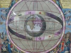 CELLARIUS / SCHENK AND VALK. A RARE GROUP OF FOUR CELESTIAL MAP CHARTS.C.1708 (AMSTERDAM) FROM THE